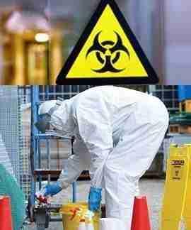 Bio hazard cleanup by men