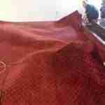 Carpet drying by men